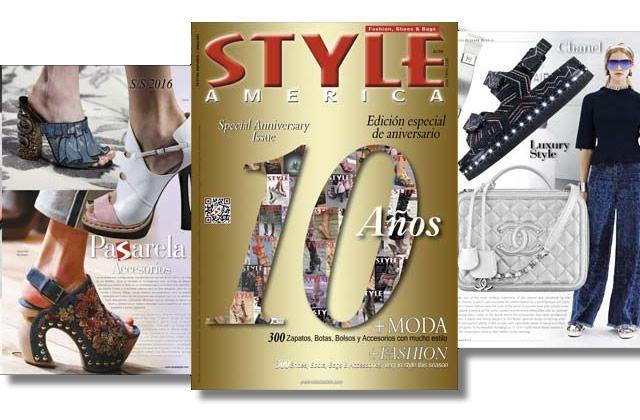 Décimo aniversario de la revista STYLE AMERICA Fashion, Shoes & Bags