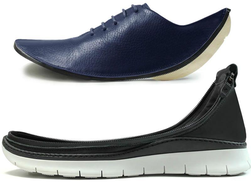 Atractivos zapatos con partes intercambiables