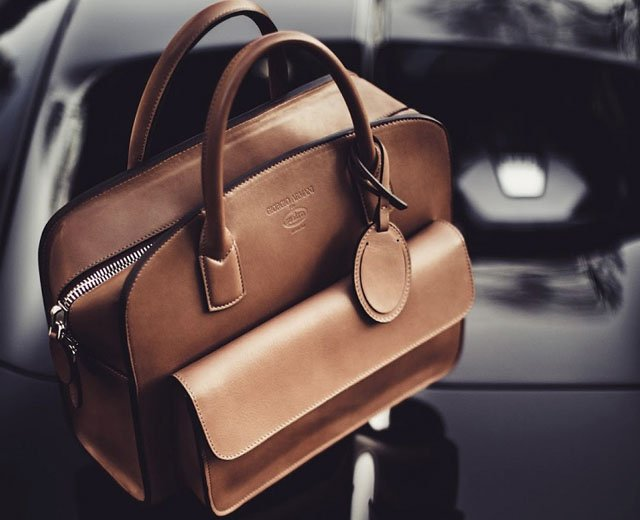 Giorgio Armani x Bugatti bolsos y accesorios de Lujo exclusivo