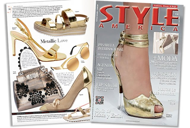 Tendencia Amor Metálico - Revista Style America Fashion, Shoes & Bags