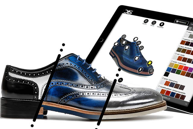 Sistema de personalización de zapatos italianos