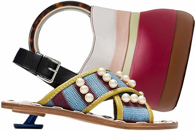 Estilo étnico en zapatos y bolsos de Marni