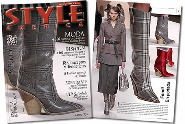 Imponentes botas de la marca Fendi