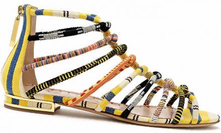 Zapatos Casadei X EFI con tejidos africanos