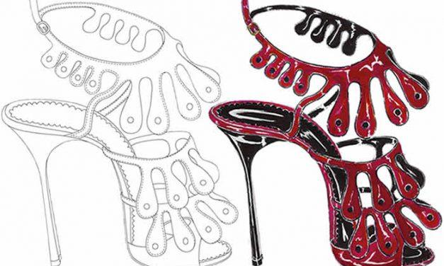 Proyecto Smile el arte de colorear zapatos de Manolo Blahnik