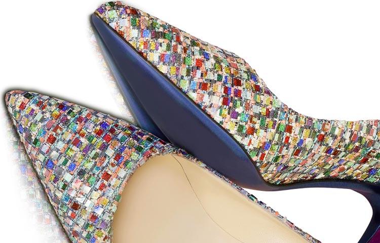 Suelas azules y ediciones limitadas en zapatos de Oteri